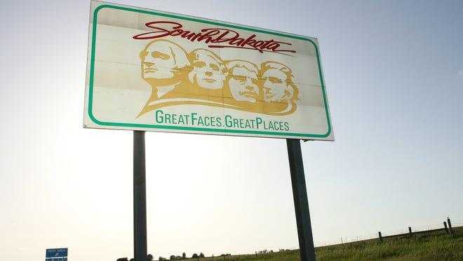 A travel sign in 2007 along Interstate 90 in South Dakota could get a new speed limit sign if lawmakers increase the limits on the state's interstates.