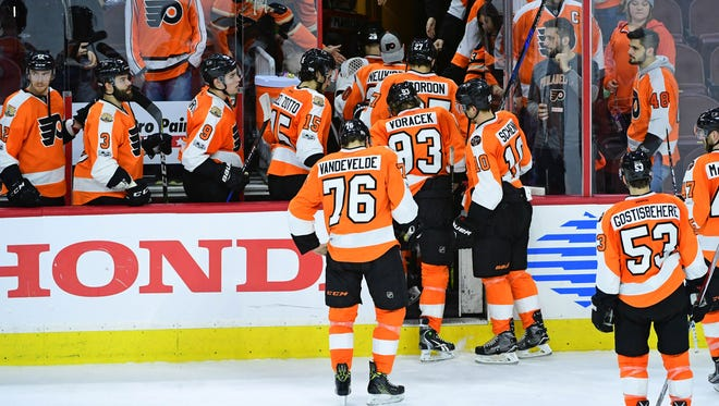 After losing to the New York Rangers, the Flyers are on a five-game losing streak.