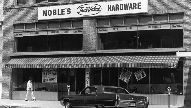 Noble Hardware was once located at 915 Indiana, where the Wichita Theatre is now.