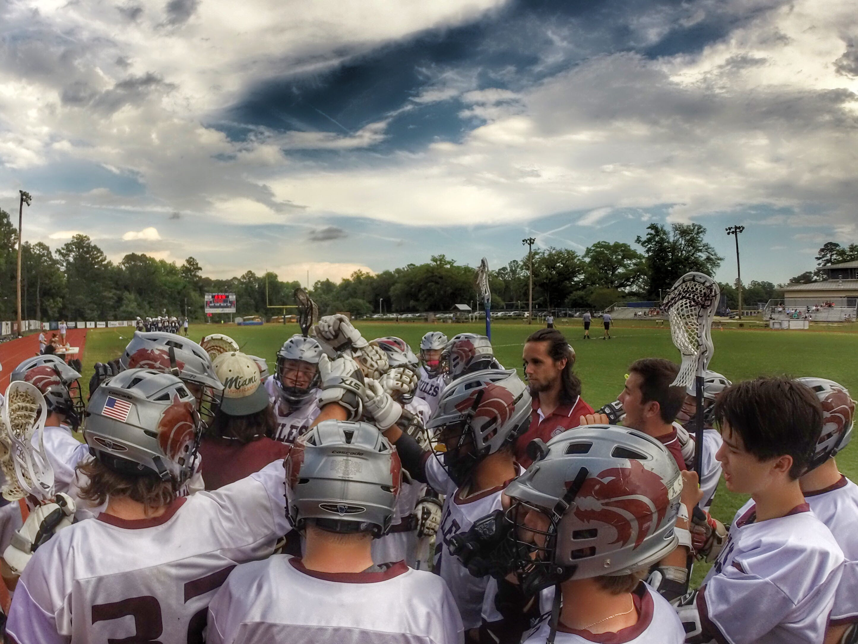 The Chiles lacrosse team prepares to play Tuesday's district semifinal game against Gulf Breeze. The Timberwolves won and will face Maclay in Thursday's championship game.