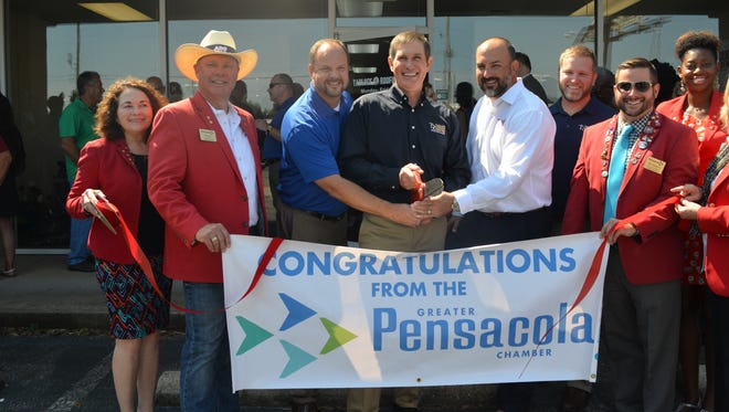 Tadlock Roofing hosted its grand opening and ribbon cutting on Thursday, Aug. 24, 2017.