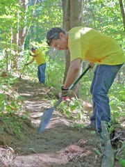 Volunteers from local firm Stantec build trail at Upper La Platte River Natu (2)