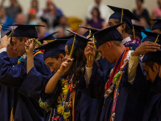 Enterprise High School commencement ceremony, Wednesday, May 25, 2016.