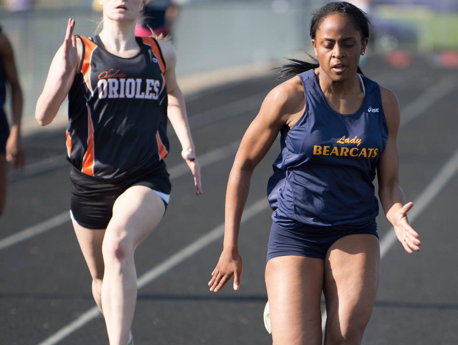 Battle Creek Central's Ayrianna Smith has the area's top time in the 200 dash this season at 26.58 seconds.
