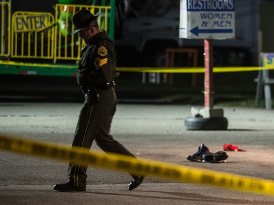 Vermont State Police guard the scene of a fatal stabbing