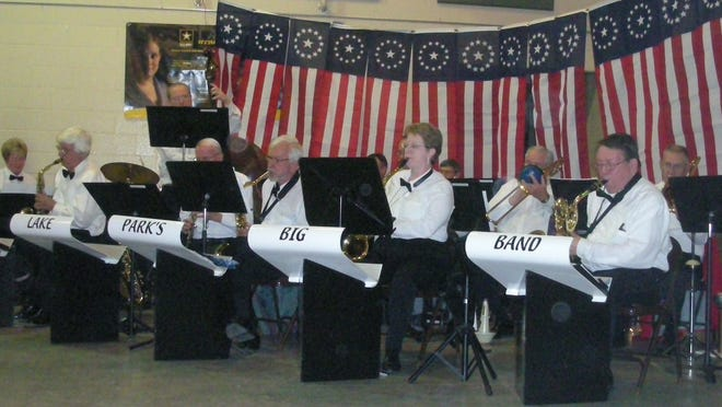 The Lake Park Big Band play for an armed services ball in this Nov. 2009 Tribune file photo. The group will be playing for the first time since the pandemic on June 12.