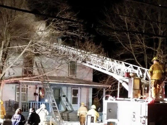 A family of nine was able to escape a house fire early