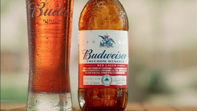 Budweiser is introducing a new beer for the summer, Freedom Reserve Red Lager, which is inspired by a recipe found in George Washington's personal military journal.