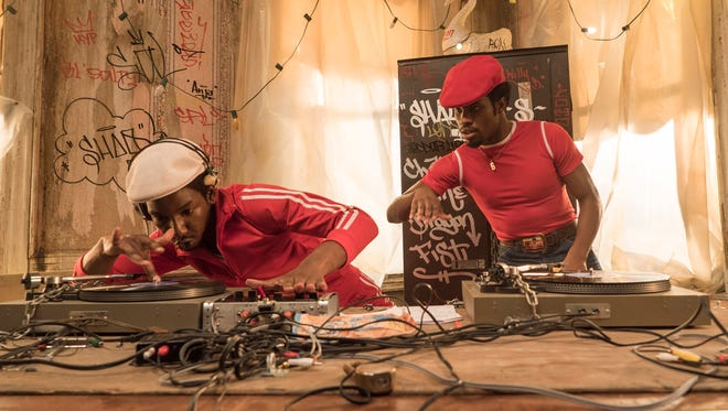 Mamoudou Athie (left) and Shameik Moore in a scene from Netflix's 'The Get Down'