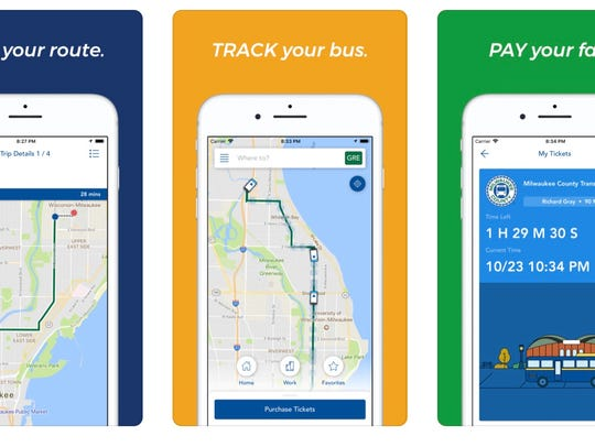A screen shot of  the Ride MCTS mobile ticketing and