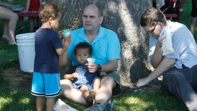 Bob Mulvey of Lafayette enjoys for a day out at the park with his kids. They also participated in some of the Labor Day picnic events there.