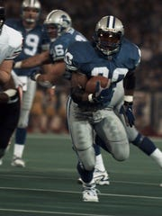 Barry Sanders rushed for 167 yards and three touchdowns