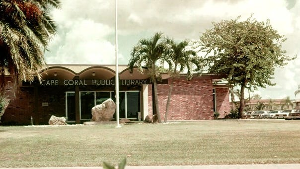 The Cape Coral library moved to the renovated medical clinic after the clinic operations moved to their new facility at the new medical center on Del Prado. This photo is from 1986.