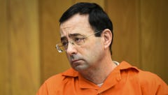 Larry Nassar listens to 17-year-old Jessica Thomashow's