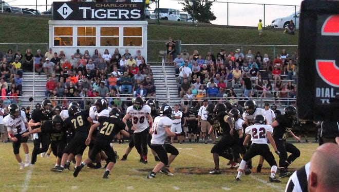 Fairview Middle School Falcons battle with Charlotte Middle.