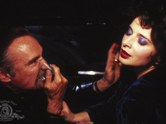 """Frank Booth (Dennis Hopper) is one twisted individual, and Dorothy (Isabella Rossellini) is not his mommy in """"Blue Velvet."""""""