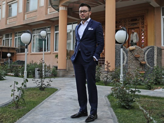 Afghan businessman Fahim Hashimy poses for a portrait at a hotel in Kabul, Afghanistan, Thursday, May 1, 2014. The Afghanistan Olympic Committee has elected entrepreneur Hashimy as president in a move it describes as its first step as a democratic, independent body. (AP Photo/Massoud Hossaini)
