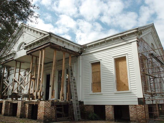 The Governor's Mansion, located on Liberty Street in Opelousas, is undergoing a complete restoration under the supervision of Raymond Reinecke.