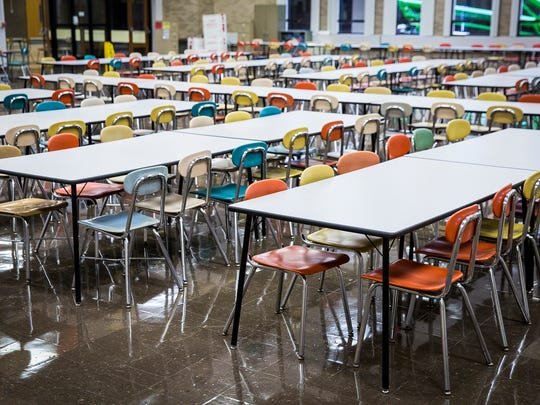 The interior of Central's cafeteria Thursday, July