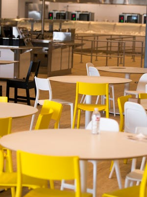 The cafeteria area in the Ikea Fishers, which is slated to have its grand opening on Oct. 11.