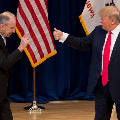 Obradovich: Grassley says he'll watchdog Trump on the law but not every campaign promise