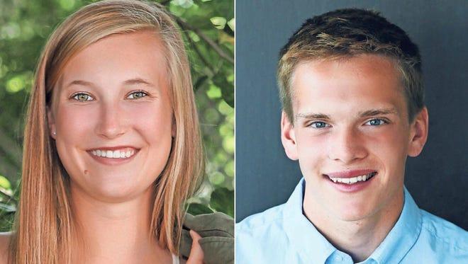 Sydney Maule and Josh Koleske of Appleton North High School are this week's top scholars.