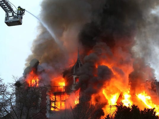 Fire in residential house