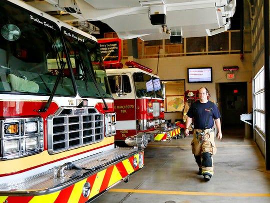 Volunteer Fire Fighter Josh Markle, of Dover Township,
