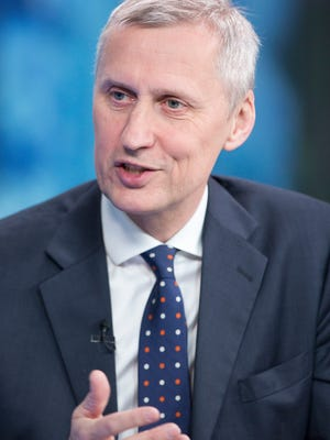 Martin Wheatley, chief executive officer of the United Kingdom Financial Conduct Authority, speaks during a 2015 Bloomberg Television interview in London.