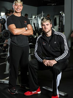 Carlos Rivas, right and Patrick Mahoney are person trainers at Proformance, a fitness facility on River Road. They are hired by Miss America and Miss USA to be the offical trainers for the contestants from Kentucky and Indiana, working to help achieve the optimum physical and mental goals for the contestants. Jan. 25, 2016