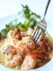 The shrimp and grits dish at the Science Hill Inn in