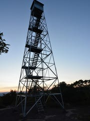 The fire tower offers an impressive view.