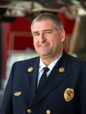 Scott M. Owen, Sr., fire chief of the Marshfield Fire and Rescue Department. Taken on June 21, 2017 in Marshfield, Wis.