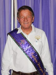 Krewe Dionysos-Natchitoches Captain XX Pete Johnson at the coronation.