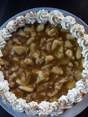 The caramel apple cheesecake at Butchertonw Grocery. Sept. 26, 2017.