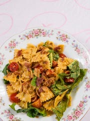 The BLT pasta salad at the Sword and Scone Tea Parlor