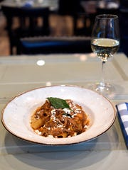 The Dorowat rigatoni, with berbere and fresh cheese. A dish at Marcus B&P, a new restaurant by chef Marcus Samuelsson in Newark, NJ.