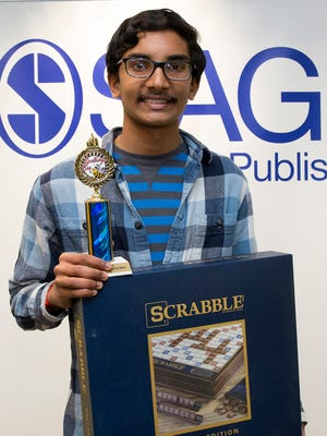 Rahul Naveen, an eighth-grader at Medea Creek Middle School in Oak Park, is the champion of the SAGE Ventura County Spelling Bee and will represent Ventura County and SAGE Publishing at the Scripps National Spelling Bee in Washington, D.C., in May.