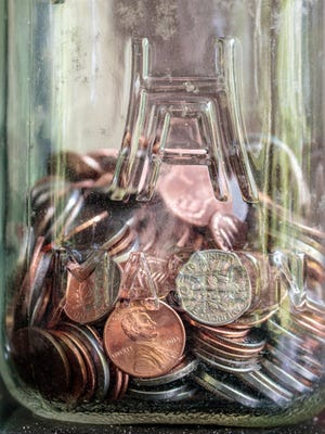 The closet coin jar, a culprit in the national coin shortage.