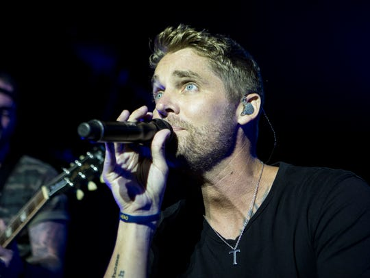 Brett Young performs at the U.S. Cellular Stage on