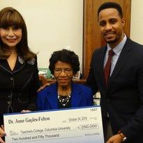 Gayles-Felton endows $250K scholarship at Columbia
