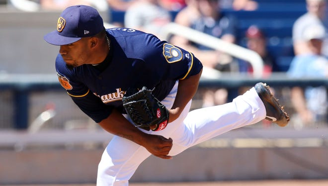 Opening Day starter Junior Guerra struggled on Tuesday afternoon