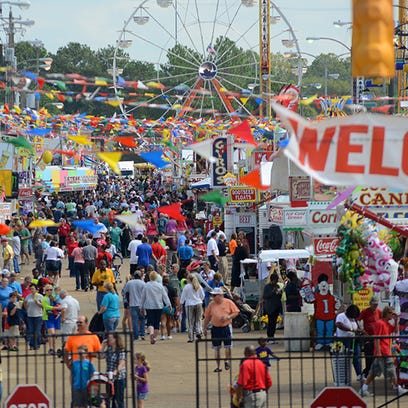 This 2014 photo shows the Mississippi State Fair.