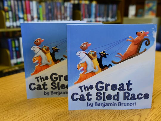 """Stephen Decatur Middle School Student Benjamin Brunori recently wrote and published the book """"The Great Cat Sled  Race."""" Wednesday, Jan. 3, 2017."""
