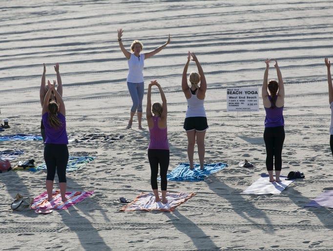 Beach yoga in Long Branch —July 19, 2016 -Long Branch,