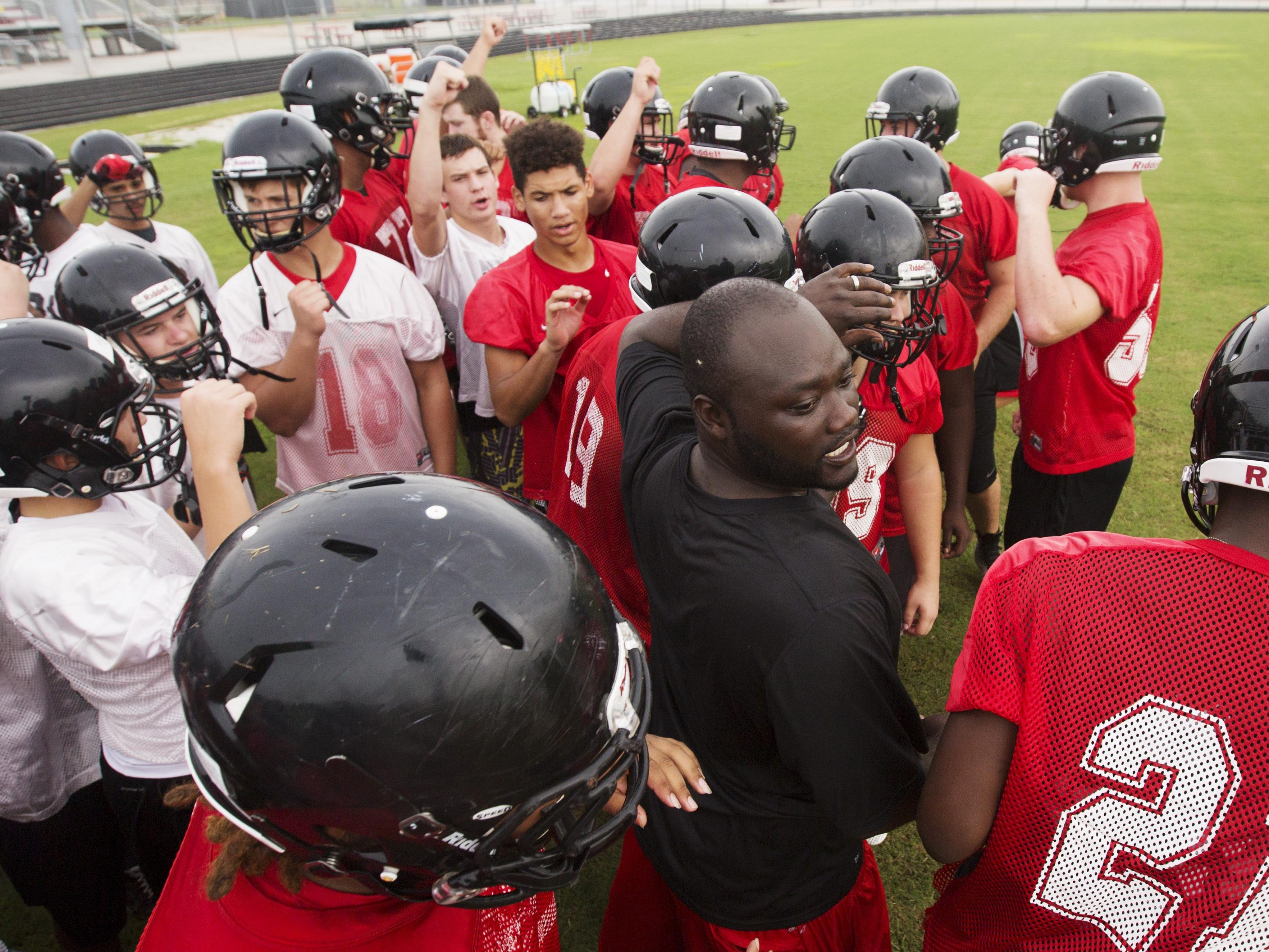 Andrew West/News-Press Anthony Dixon is taking over the reigns as head coach of the South Fort Myers High School football team.