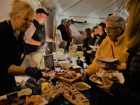 The 11th annual Big Cheese Cutting included a tasty spread of Italian specialties.