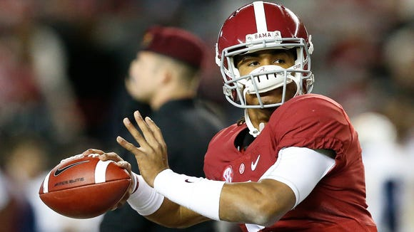 Alabama true freshman quarterback Jalen Hurts is 10-0