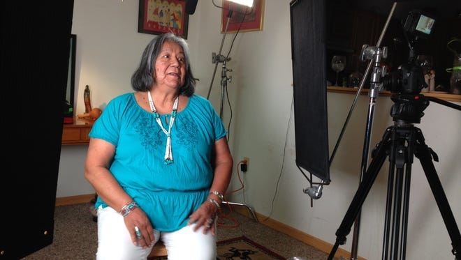 Loa Porter, a Ho-Chunk Nation woman who was placed in a non-native foster home, talks to producers from Rucinski & Reetz Communication.