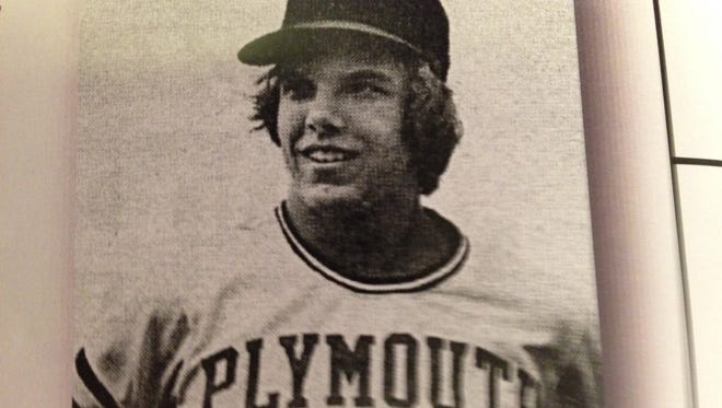 The school name on the front of Tom Willette's high school jersey says it all. He was a pitcher for 'Plymouth' Salem's state champion 1975 team. He wants the original Rocks to be included in future classes of Salem's Wall of Champions. Willette was part of the second class, as was the 1975 team.